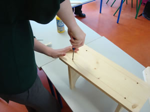 Primary School Woodwork - Wooden Stool 2