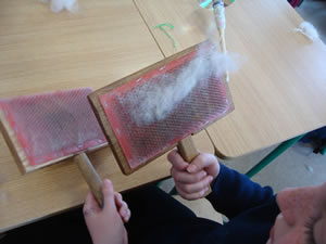Primary School Woodwork - Carding