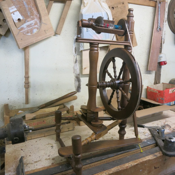 Myla's Restored Dutch Spinning Wheel